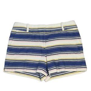 LOFT Size 6 The Riviera Striped Shorts